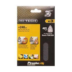 Black & Decker X39162 Pack of 3 Velcro / Hook & Leap Mesh Sanding Sheet  240g - Fits Bosch PMS160A