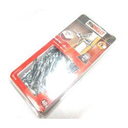 Black & Decker Molly Fixings 40xHOLLOW FIXING-METAL 8mm 8x33 M14125