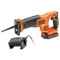 Black & Decker BDCR18C1 18V Recip Saw with 1.5Ah Battery, Charger & Blade
