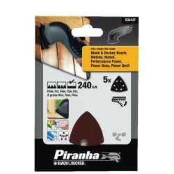 Black & Decker X32437 Pack of 5 240G Velcro Detail Sanding Sheets