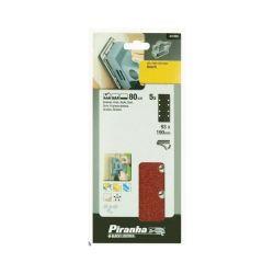 Black & Decker 1/3 Sheet Sand Paper Coarse Quick Fix 80g. Pack 5