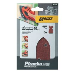 Black & Decker X31034 Pack of 5 40G Mouse Detail Sander Sheets