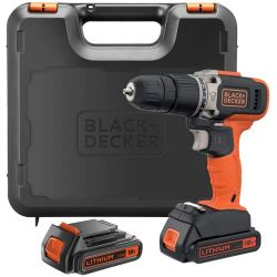 Black & Decker BCD003C2K 18V Lithium-Ion 2 Speed Hammer Drill with 2 x 1.5Ah Batteries & Charger