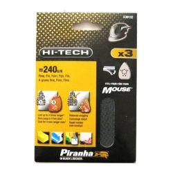 Black & Decker Piranha X39132 Pack of 3 Velcro Detail Mesh Mouse Sanding Sheets USE: STA39132