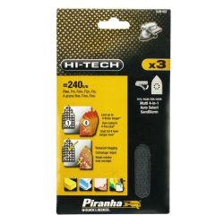 Black & Decker Piranha X39102 Pack of 3 Multisander Mesh Sanding Sheets Fine 240G
