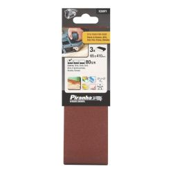 Black & Decker X33071 Pack of 3 80G 65mm x 410mm Sanding Belts USE STA33071