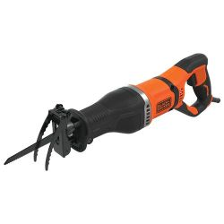 Black & Decker BES301 750W Corded Reciprocating Saw with Branch Holder & 2 Blades