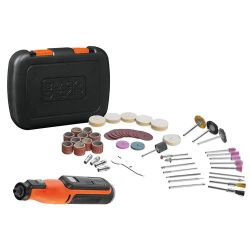 Black & Decker BCRT8IK 7.2V Cordless Rotary Tool with 52 Accessories in a Kit Box