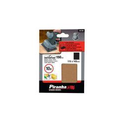 Black & Decker Piranha X31160 Pack of 10 150G 115mm x 140mm Orbital Sanding Sheets