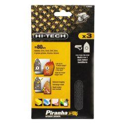 Black & Decker Piranha X39092 Pack of 3 Multisander Mesh Velcro Sanding Sheets 80G