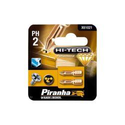 Black & Decker X61021 Ph2 25mm Bit Screwdriver (2 Pieces)