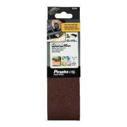 Black & Decker X33061 Pack of 3 65mm x 410mm 40G Belt Sander Sanding Belts