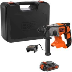 Black & Decker BCD900D1K 18V SDS-Plus Hammer Drill with 2.0Ah Battery & Charger