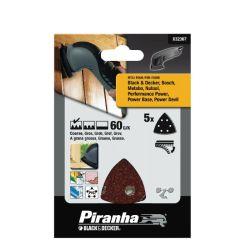 Black & Decker Piranha X32367 Pack of 5 60G Velcro Detail Sanding Sheets