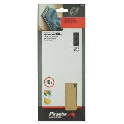 Black & Decker X31040 60 Grit Sanding Sheets 115mm x 280mm (10pc)