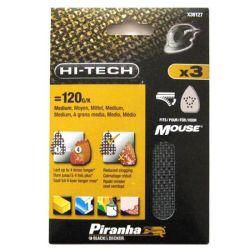 Black & Decker Piranha X39127 Pack of 3 Hi-Tech Mouse Mesh Sanding Sheets 120G