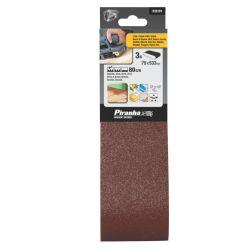 Black & Decker Piranha X33191 Pack of 3 80G 75mm x 533mm Belt Sander Sanding Belts