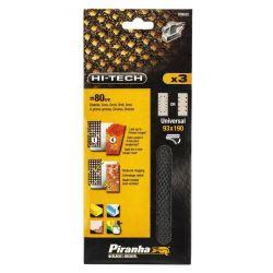 Black & Decker Piranha X39032 Pack of 3 Third Sheet 1/3 93mm x 190mm Mesh Sander Sheet 80 Grit