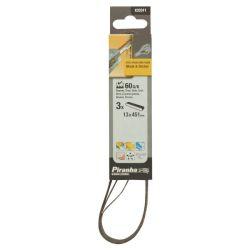 Black & Decker Piranha X33311 Pack of 3 60G 13mm x 451mm White Alox Powerfile Sanding Belts