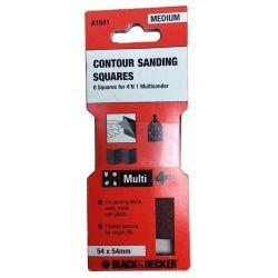 Black & Decker A1841 54mm x 54mm Contour Sanding Squares