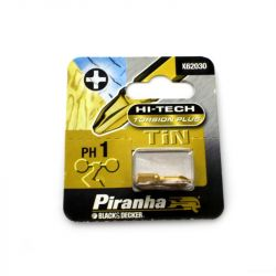 Black & Decker Piranha X62030 Hi-Tech Torsion Plus Philips Head PH1 Hex Shank Screwdriver Bit