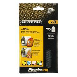 Black & Decker Piranha X39097 Pack of 3 Multisander Mesh Sanding Sheets 120g