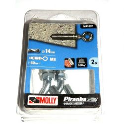 Black & Decker Molly 2Xsolid Fixing-Bolts 14Mm